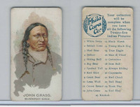 E46 Philadelphia Caramel, Indian Pictures, 1911, John Grass, Blackfeet Sioux