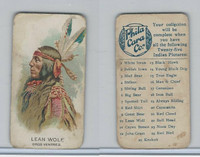 E46 Philadelphia Caramel, Indian Pictures, 1911, Lean Wolf, Gros Ventres