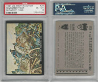1961 Rosan W528-2, The U.S. Army In Action, #29 Remember, PSA 6 EXMT