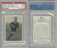 W62-122 Wills, British Sporting Person., 1937, #19 Obolensky, Rugby, PSA 7 NM