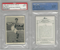 W62-122 Wills, British Sporting Person., 1937, #23 G Nepia, Rugby, PSA 7 NM