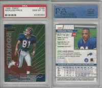 1999 Topps Finest Football, #169 Peerless Price RC, Bills, PSA 10 Gem