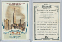 2012 Topps Allen & Ginter, World Tallest Buildings, #WTB6 Empire State, New York