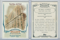 2012 Topps Allen & Ginter, World Tallest Buildings, #WTB8 Wall Street, New York