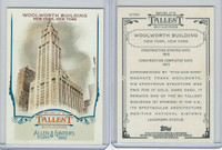 2012 Topps Allen & Ginter, World Tallest Buildings, #WTB9 Woolworth, New York