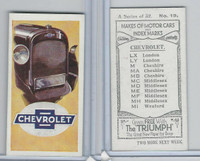 A0-0 Amalgamated, Makes of Motor Cars, 1923, #19 Chevrolet