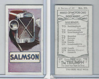 A0-0 Amalgamated, Makes of Motor Cars, 1923, #29 Salmson
