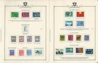 Switzerland Stamp Collection 1965-77 on 32 Minkus Specialty Pages