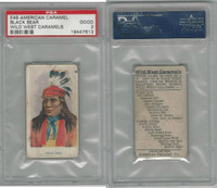 E49 American Caramel, Wild West, 1920's, Black Bear, PSA 2 Good
