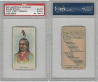 E49 American Caramel, Wild West, 1920's, Black Swan, PSA 2 MK Good