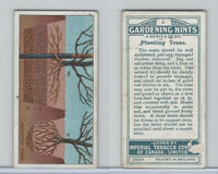 C15 Imperial Tobacco, Gardening Hints, 1923, #2 Planting Trees