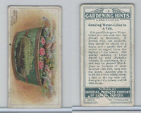 C15 Imperial Tobacco, Gardening Hints, 1923, #16 Growing Water-Lilies