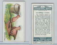 C15 Imperial Tobacco, Gardening Hints, 1923, #18 Levelling a Lawn