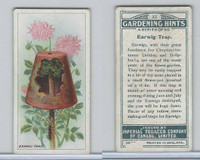 C15 Imperial Tobacco, Gardening Hints, 1923, #22 Earwig Trap