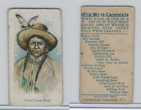 E49 American Caramel, Wild West, 1920's, Chief Lone Wolf