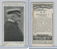 C23 Imperial Tobacco, Naval Portraits, 1915, #12 ECT Troubridge