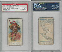 E49 American Caramel, Wild West, 1920's, Chief Lone Wolf, PSA 1.5 Fair