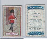 C32 Imperial Tobacco, The Reason Why, 1924, #12 Grenadier Wears Bearskin