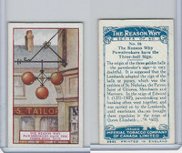C32 Imperial Tobacco, The Reason Why, 1924, #16 Pawnbroker Three-Ball Sign