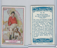 C32 Imperial Tobacco, The Reason Why, 1924, #18 Englishman, John Bull
