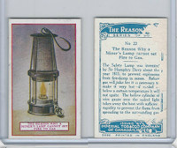 C32 Imperial Tobacco, The Reason Why, 1924, #22 Miner's Lamp