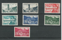 Andorra, French, Postage Stamp, #128//139 (7 Different) Mint NH, 1955-58 (P)