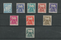 Andorra, French, Postage Stamp, #J17, J33-J40 Mint NH, 1937-1953 (P)