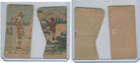 W Card, Strip Card, Misc, 1920's, Boy Scouts, Bugling, Climbing