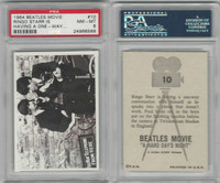 1964 Topps, Beatles Movie, #10 Ringo Starr Is Having A One-Way, PSA 8 NMMT