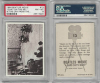 1964 Topps, Beatles Movie, #13 Quiet on the Set, Is the Cry, PSA 8 NMMT
