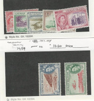 Cayman Islands, Postage Stamp, #135-139, 143-144 Mint Hinged, 1953-59