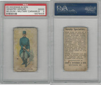 E5 Dockman, Military Caramels, 1914, Belgium Infantry Officer, PSA 2 Good