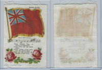 S40 American Tobacco Silk, Flag, Song, Flower, 1910, England