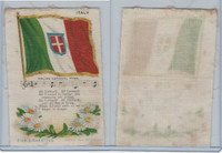 S40 American Tobacco Silk, Flag, Song, Flower, 1910, Italy