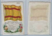 S40 American Tobacco Silk, Flag, Song, Flower, 1910, Spain