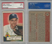 1952 Topps Baseball, #90 Mickey Grasso, Washington Senators, PSA 5 EX