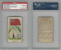 E5 Dockman, Military Caramels, 1914, England Flag, PSA 2 Good