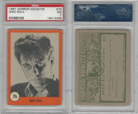 1961 Nu-Cards W531, Horror Monster, #76 Mad Soul, PSA 7 NM