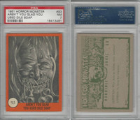 1961 Nu-Cards W531, Horror Monster, #93 Aren't You Glad, PSA 7 NM