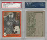1961 Nu-Cards W531, Horror Monster, #107 Bride & The Beast, PSA 5 EX
