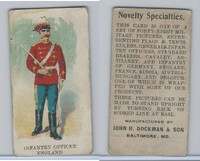 E5 Dockman, Military Caramels, 1914, England Infantry Officer