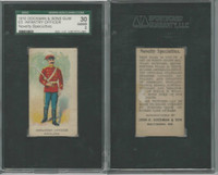 E5 Dockman, Military Caramels, 1914, England Infantry Officer, SGC 30 Good
