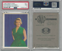 1960 Snap Card, ATV Stars, 2nd Series, #21 Rosemary Clooney, PSA 7 NM