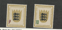 Germany, Postage Stamp, #729-730 Mint LH, 1955 Coat of Arms