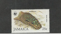 Jamaica, Postage Stamp, #591 Mint LH, 1984 Snake, Boa, WWF