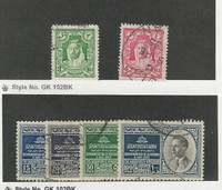 Jordan, Postage Stamp, #172, 174, 293-296 Used, 1934-53
