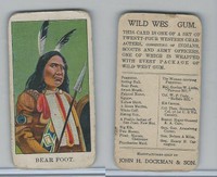 E50 Dockman, Wild West Gum, 1920's, Bear Foot