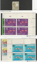 Netherlands Antilles, Postage Stamp, #65 MH, 342, 344, 515, 535 Mint NH Blocks