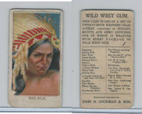 E50 Dockman, Wild West Gum, 1920's, Big Elk