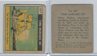 R150 Strip Card, Time Marches On, 1930's, #607 Half Moon on Hudson (B)